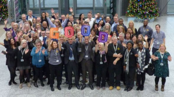 Staff celebrate MidKent College's GOOD Ofsted rating